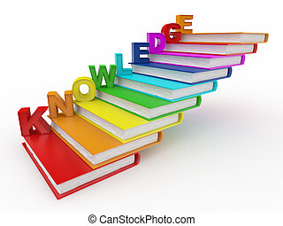 Wortwissen in Büchern als Treppe