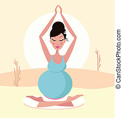 Wunderschöne schwangere Yoga-Mom