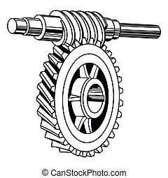 Wurmgetriebe.