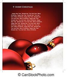 Xmas Grußkarte. Weihnachtsspielzeug auf Baumwollwolle
