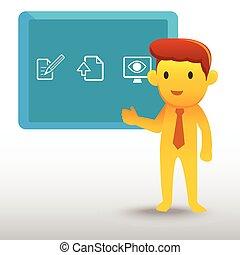 Yellow Businessman Präsentation.