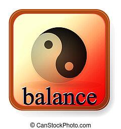 Ying Yang Symbol für Harmonie und Ausgewogenheit