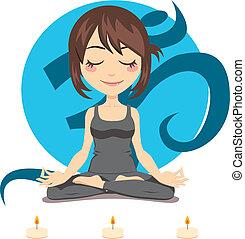 Yoga-Frau