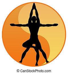 Yoga Gleichgewichtsvektor