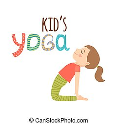 Yoga-Kinder isoliert Logo-Design