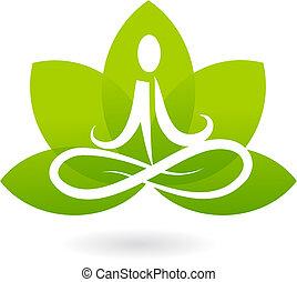 Yoga Lotus Icon / Logo