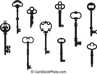Zehn Skelettschlüssel