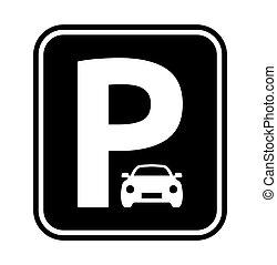 zeichen, parken