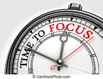 Zeit, den Zeitvertreib zu konzentrieren
