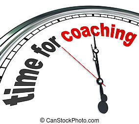 Zeit für den Unterricht der Uhr Mentorin als Vorbild