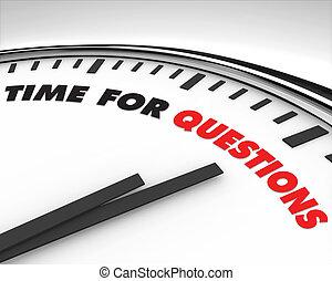 Zeit für Fragen - Uhr.