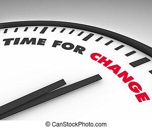 Zeit für Veränderung - Uhr