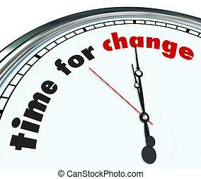 Zeit für Veränderungen - ornate Uhr