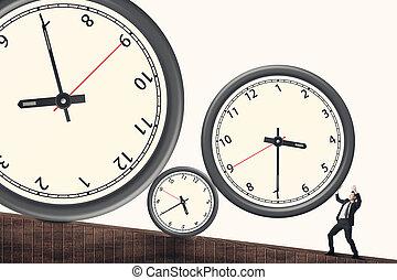 Zeitdruckkonzept.