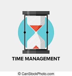Zeitmanagement flache Illustration
