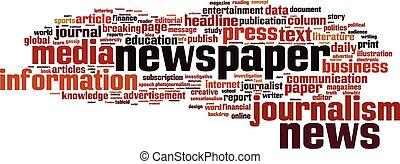 Zeitungswortwolke