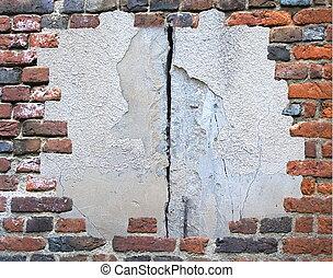 Ziegelsteinmauer Grungerahmen