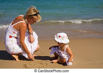 Zieht im Sand.