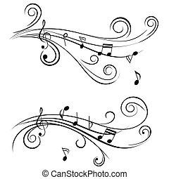Zierliche Musiknoten