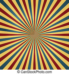 Zirkusfarben sonnenbrecherischer Hintergrund