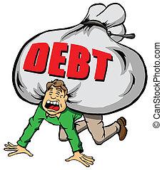 Zu viel Schulden.