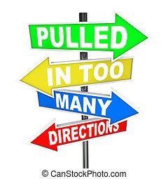 Zu viele Richtungen deuten auf Stressangst hin