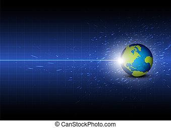 Zukünftiger digitaler globaler Technologie Hintergrund