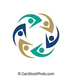 zusammen, heiligenbilder, abbildung, design, leute, symbol