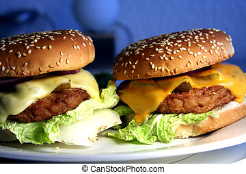 zwei, cheeseburger
