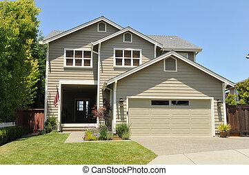 Zwei Familienhäuser mit Einfahrt