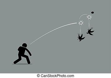 Zwei Fliegen mit einem Stein.