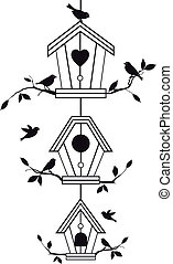 zweige, birdhouses, baum