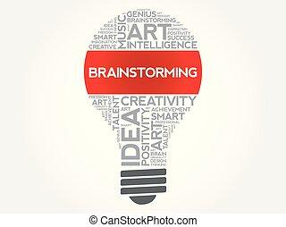 zwiebel, wort, brainstorming, wolke